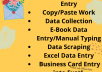 complete any type of Data Entry work