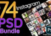 NEW AND PROFESSIONAL 70+ INSTAGRAM BUNDLE TEMPLATES (PSD)