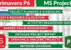 do Project Scheduling on Primavera P6, MS project