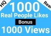 give 1000 Real People Likes for YouTube Channel Monetization