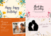 design greeting cards for birthday, love and many more