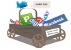 do manual social bookmarking submission to 50 top sites plus ping