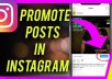 Promote Your Instagram Post or Video to Get 100 Like or 100 Views