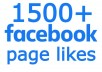 send you FAST 1500+ FACEBOOK PAGE LIKES, HIGH QUALITY PROMOTION WITH NON DROP GUARANTEED