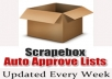 give you Largest Auto approve links including edu, gov links list, updated every week