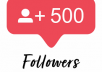 Give You 500+ Followers Instagram