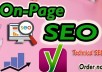 do onpage and technical on page SEO solution for website