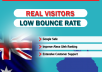 send 60,000 AUSTRALIA GEO Targeted Traffic Visitors to your Website