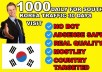 drive targeted south korea real traffic with low bounce rate