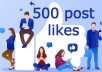 send you 500 facebook post likes