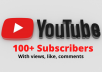 do real YouTube subscribers 100+