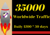 SEND 1200 Daily Traffic Worldwide for one Month