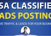 Post 25 Live Ads on Authority USA Classified Sites