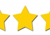 give your iPhone app 5 stars from 3 accounts in USA AppStore