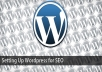 install a wordpress blog for you plus needed plugins and theme