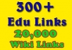 give you 300 plus EDU links and 32000 wiki Links to give your site a link booster and 2 x 100USD Adwords Voucher