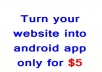 make your business website in to an android app