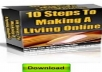 give you ten steps to making a living online ebook