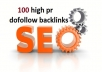 create 100 dofollow backlinks to your website and skyrocket your seo