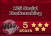 provide 125+ social bookmarking sites with live links