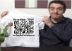 Create 3 Iron On QR Codes for your T-Shirts