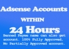 Create Fully Approved Adsense account at any Payee name