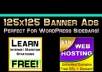 Design 125x125 Banner Ads to Promote Anything You Want