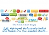 The Internet Marketer's Graphics Package includes an enormous library of professionally designed images ready to use for all your websites.  The package includes:  2,112 GIF Elements. 2,112 Transparent PNG Elements. 420 Blank Elements without text (140 in GIF format, 140 in PNG format and 140 in JPG format) to customize with any graphics software.