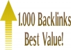 provide 1000 backlinks mixture of PR 0 to 8