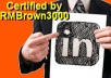 get you up to 1000 LinkedIn contacts from real people who can add value to your linkedIn network
