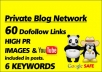 boost Your SERP Rankings With 60 Backlinks From Posts Across 20 Chosen Blogs From My Google Panda Penguin Safe Dofollow Private Blog Network