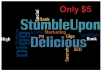 bookmark 8 pages of Your website on Digg,StumbleUpon, Delicious