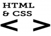 fix html and css issues in your website