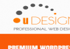 give you U Design Theme with PSD's and Plugins Just