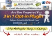 give 3 in 1 Optin Pressor 2 plugin delivers active verified emails from Facebook and Google