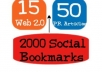 create 75 PR3 to PR8 linkwheel and 2000 social bookmarks and add to Linklicious