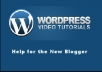 give you how to setup and use wordpress video set