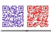 make up to 5 QR Codes for your website, you tube video, twitter/facebook/linkedin profile or email address in any colour you like