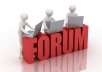 post 30-50 quality forum posts or more in a forum website