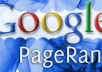 make your website 20 QUALITY and realistic Backlinks from PR5 to PR9 Websites enough to push your Google Ranking from PR0 to PR3