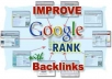 manually create 190 Unique backlinks and Ping them with proof