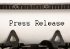 write a PR and post it on 10 Press Releases sites
