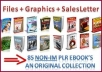 give you my OWESOME private collection of 85 non internet marketing ebooks with fully private label rights