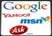 submit your five websites or blogs to the top 70 search engines and directories