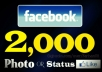 Get you 2,000 Facebook Photo/Status Likes