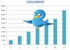 add you 35,500+ looking real and active  twitter followers in your twitter account just few hours