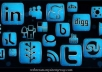send 154 Blue Chrome Rain Social Networking ICONS,Social media Icon pack for your website ,computer etc within 24 hours