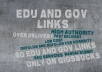 create 60 Unique GOV and EDU BACKLINKS DOFOLOW and nofolow to INCREASE your money site rankings
