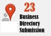 submit your business details on the top 23 CANADA citations sites with images and videos to boost your google places listing