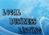 submit your business details on the *****30 TOP US CITATION SITES***** with images to boost your google places listing